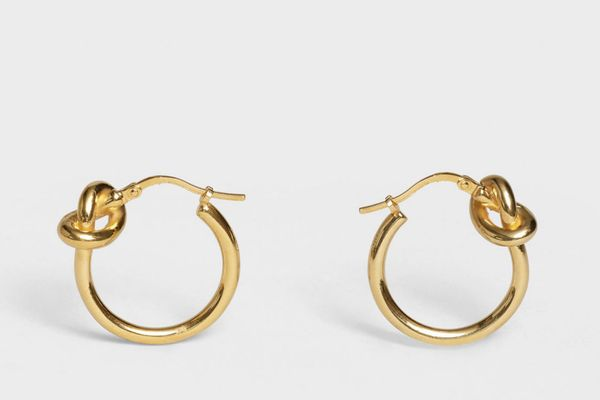 Knot Small Hoops in Brass