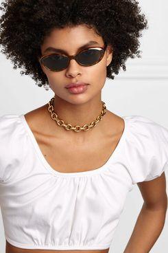 Illesteva Seattle round-frame tortoiseshell acetate sunglasses