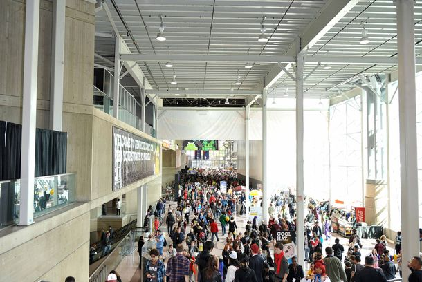 Crowds at the 2011 New York Comic Con at the Jacob Javits Center on October 15, 2011 in New York City.