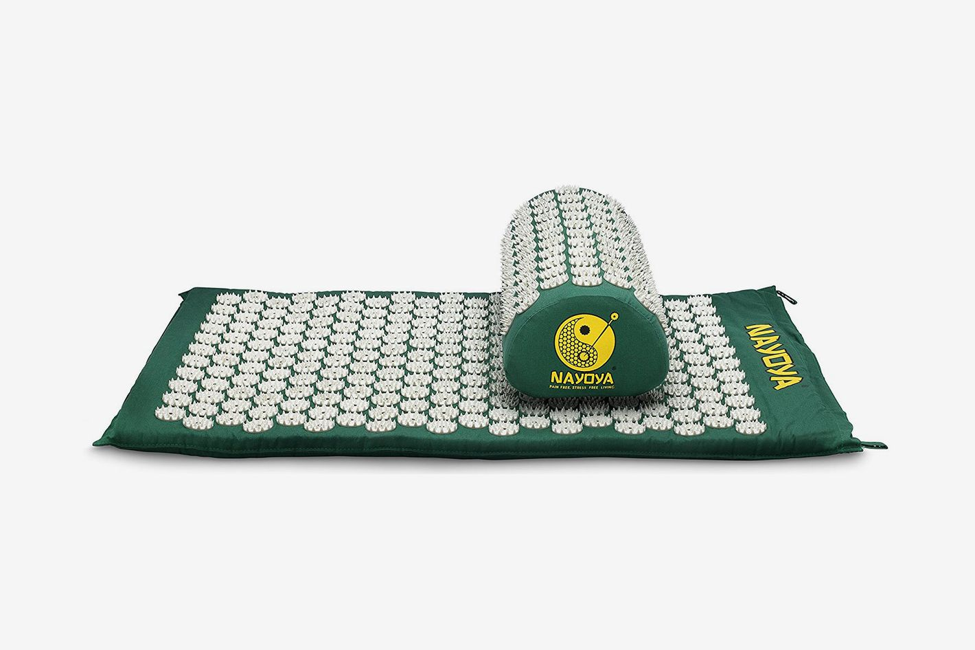 Nayoya Back and Neck Pain Relief Acupressure Mat and Pillow Set