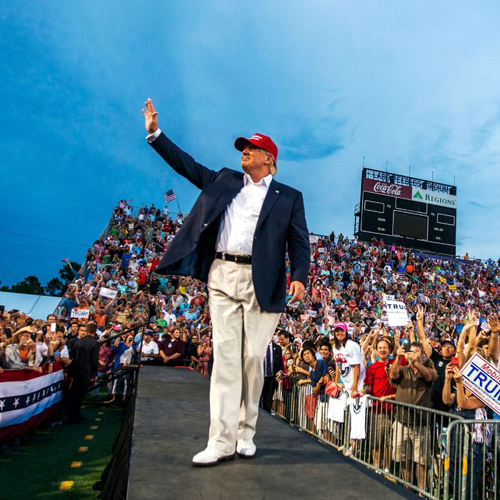 Donald Trump Holds Campaign Rally In Mobile, Alabama