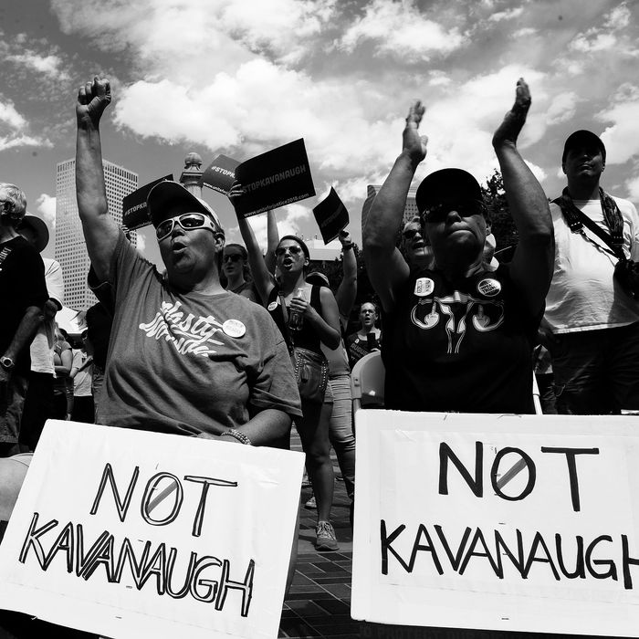 Protest against Brett Kavanaugh.