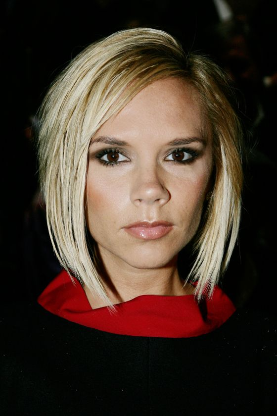 "After sporting a polished shoulder-length bob as a Spice Girl and extra-long extensions in the early aughts, Victoria Beckham gave her hair (and the world) the pob in 2007. Putting a Posh spin on the graduated bob, the ""shattered"" style was created by Ben Cooke, who also showed Beckham the light by taking her blonde."