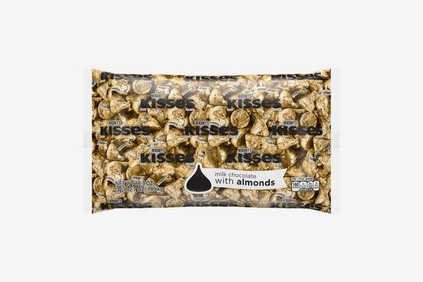 HERSHEY'S KISSES Halloween Chocolate Candy with Almonds, 4.1 lb Bulk Bag