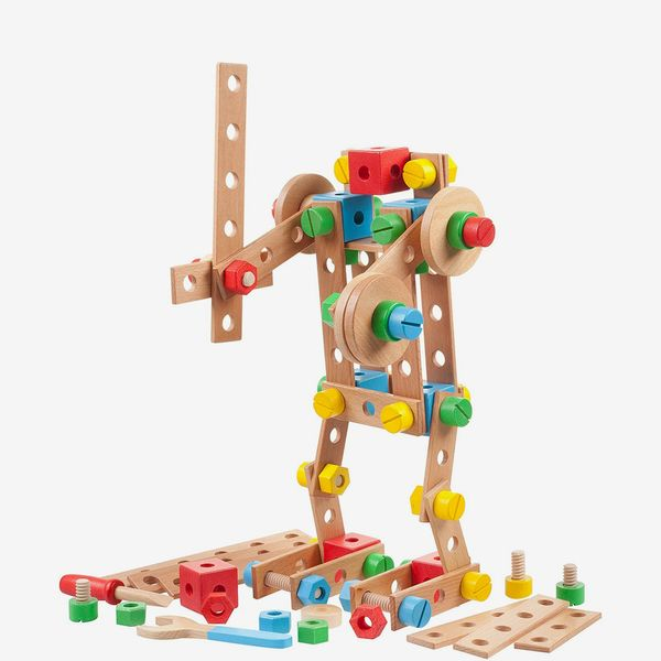 Tidlo Wooden Construction Set with Tools