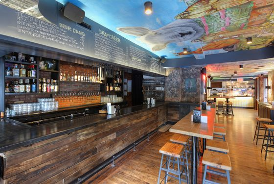 The bar. The restaurant offers Michelada recipes dreamed up by famed chefs.