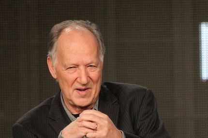 "Director Werner Herzog of the television series ""On Death Row"" speaks during the Discover Networks portion of the 2012 Television Critics Association Press Tour at The Langham Huntington Hotel and Spa on January 13, 2012 in Pasadena, California."