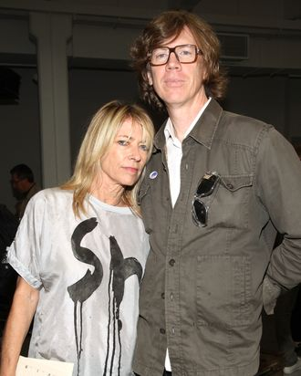 Sonic Youth members Kim Gordon and Thurston Moore attend the Rodarte Spring 2011 fashion show during Mercedes-Benz Fashion Week
