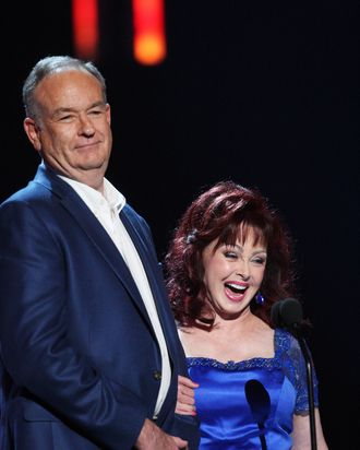 NASHVILLE, TN - JUNE 16: (L-R) TV personality Bill O'Reilly and singer Naomi Judd on stage during the 2009 CMT Music Awards at the Sommet Center on June 16, 2009 in Nashville, Tennessee. (Photo by Jason Merritt/Getty Images) *** Local Caption *** Bill O'Reilly;Naomi Judd