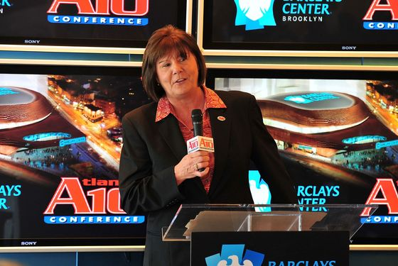 Atlantic 10 Conference Commissioner Bernadette McGlade attends the Barclays Center Atlantic 10 Men's Basketball press conference at the Barclays Center Showroom on September 28, 2011 in New York City.