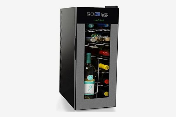 NutriChef PKTEWC120 12 Bottle Thermoelectric Wine Cooler Refrigerator
