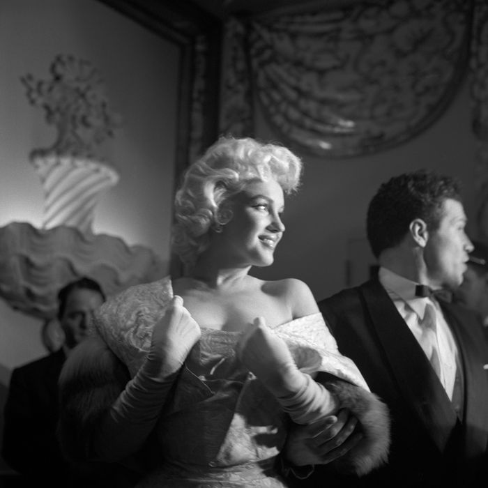 Marilyn Monroe at the premiere of East of Eden, New York, 1955.