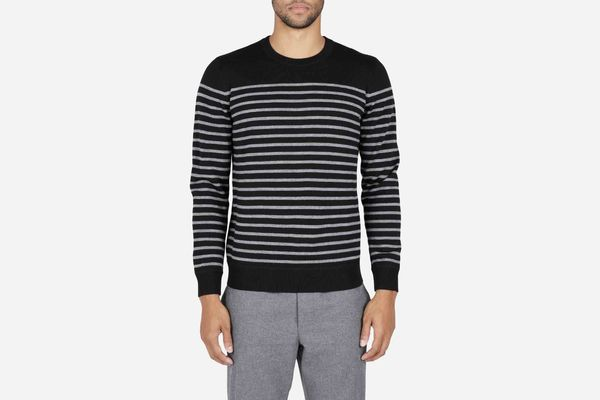 The Midweight Merino Striped Crew