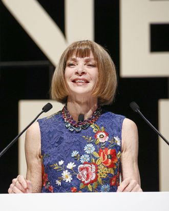 Anna Wintour speaking at Cannes Lions