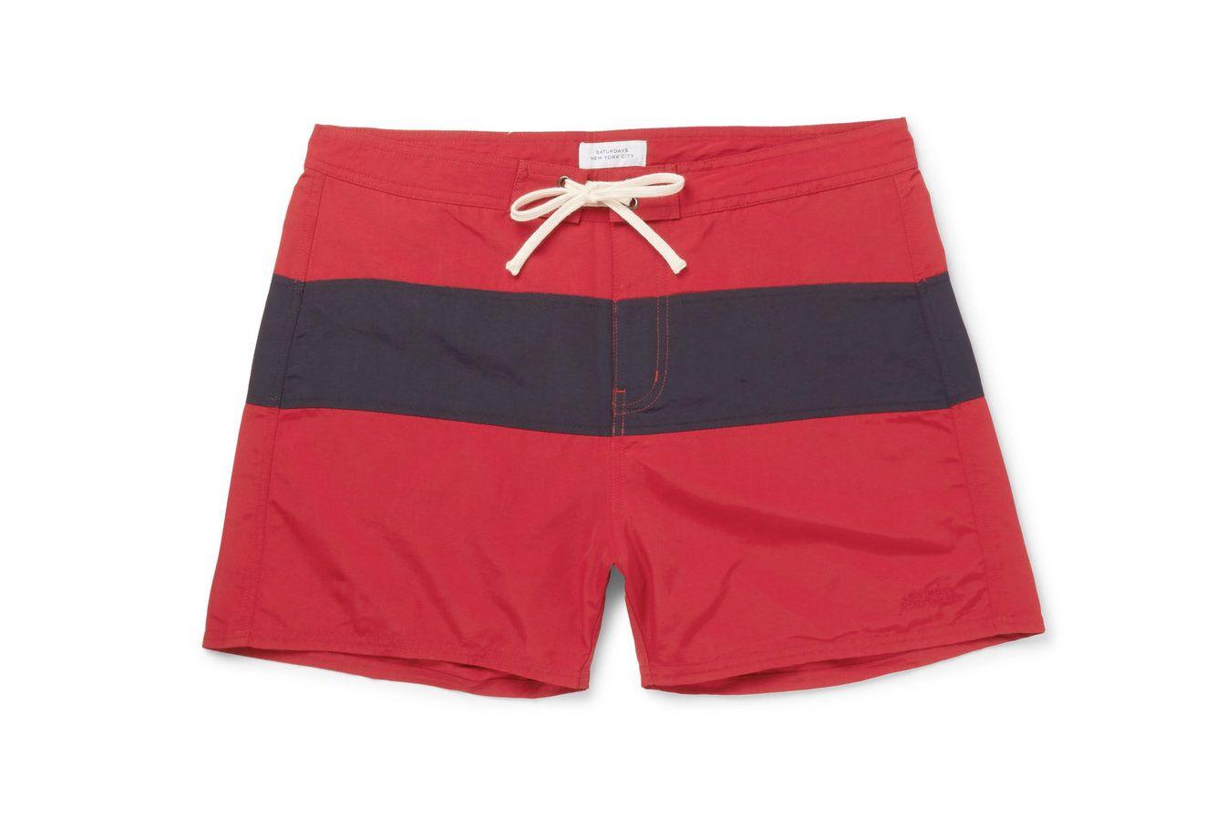 Saturdays NYC Grant Short-Length Swim Shorts
