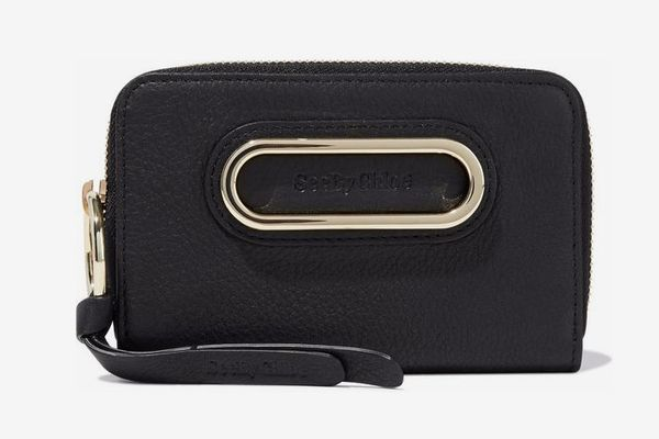 See by Chloé Small Paige Embellished Textured-Leather Wallet