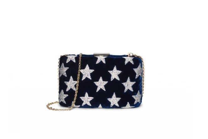 Kayu Velvet Star Clutch