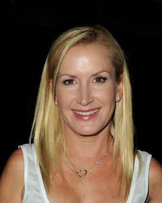 Actress Angela Kinsey arrives at The Hollywood Reporter's celebration of