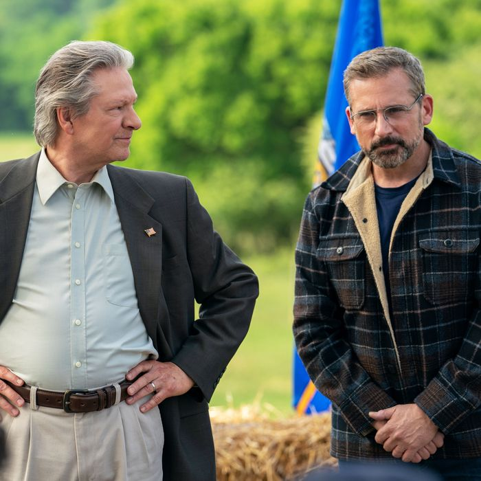 Chris Cooper and Steve Carell in Jon Stewart's Irresistible