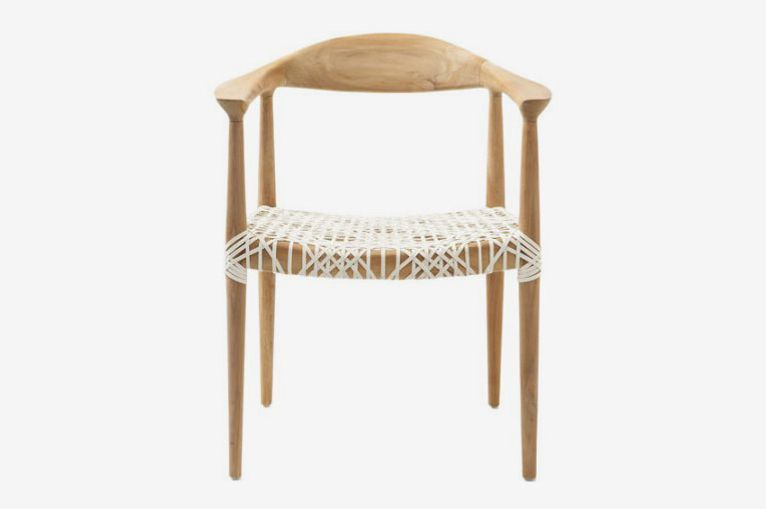 Safavieh Bandelier Arm Chair, Light Oak