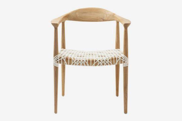 Safavieh Bandelier Arm Chair, Light Oak
