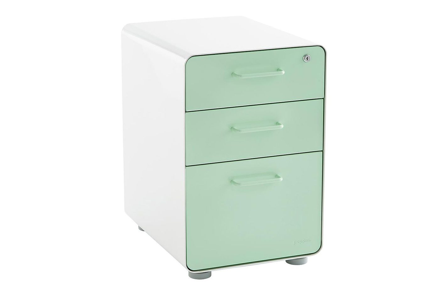 Mint Poppin 3-Drawer Locking Stow Filing Cabinet