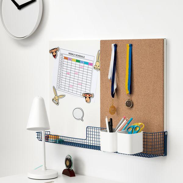 MÖJLIGHET Noticeboard/Whiteboard With Basket