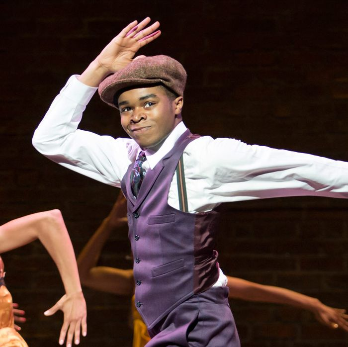 """The ensemble performs """"Broadway Blues"""" in Shuffle Along, or The Making of the Musical Sensation of 1921 and All That Followed, featuring music and lyrics by Noble Sissle and Eubie Blake, book by F.E. Miller and Aubrey Lyles, with a new book and direction by George C. Wolfe and choreography by Savion Glover, at The Music Box Theatre (239 West 45th Street).© Julieta Cervantes"""