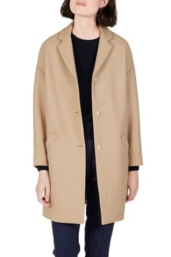 Everlane Women's Cocoon Coat, Camel