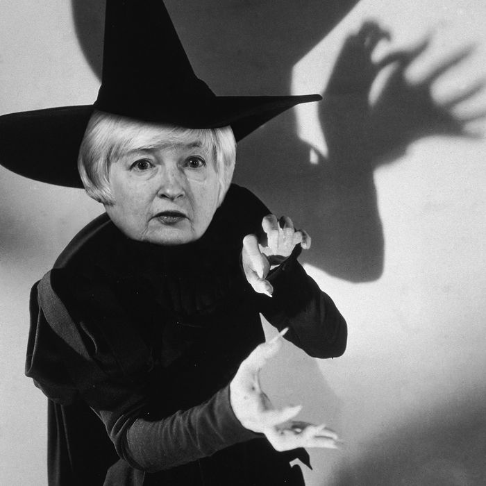 Janet Yellen as The Wicked Witch of the West