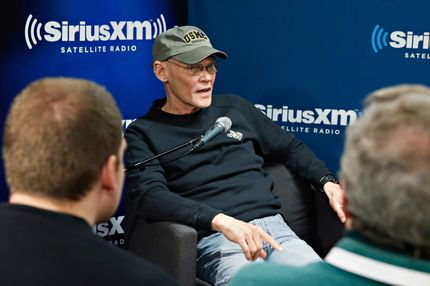 Democratic strategist/ author James Carville is interviewed with co-author Mary Matalin during a broadcast of  'Smerconish Book Club' on SiriusXM's POTUS Channel at SiriusXM Studios on January 10, 2014 in New York City.