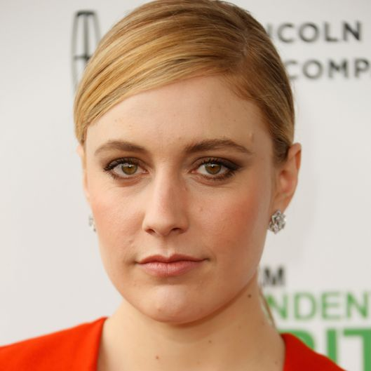 SANTA MONICA, CA - MARCH 01:  Actress Greta Gerwig attends the 2014 Film Independent Spirit Awards at Santa Monica Beach on March 1, 2014 in Santa Monica, California.  (Photo by Jeff Vespa/WireImage)