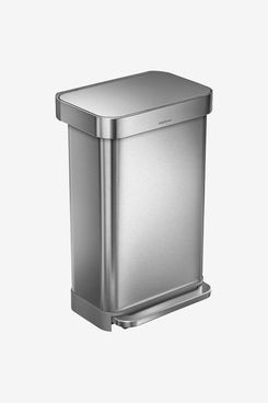 Simplehuman Stainless Steel 12 Gal. Rectangular Trash Can With Liner Pocket