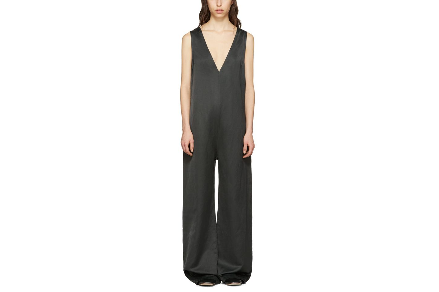 Nomia Green Oversized V-Neck Jumpsuit