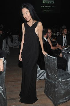 NEW YORK, NY - DECEMBER 06:  Designer Vera Wang attends the celebration of the global launch of the 2012 Pirelli Calendar By Mario Sorrenti gala dinner at the Park Avenue Armory on December 6, 2011 in New York City.  (Photo by Mike Coppola/Getty Images for Pirelli)