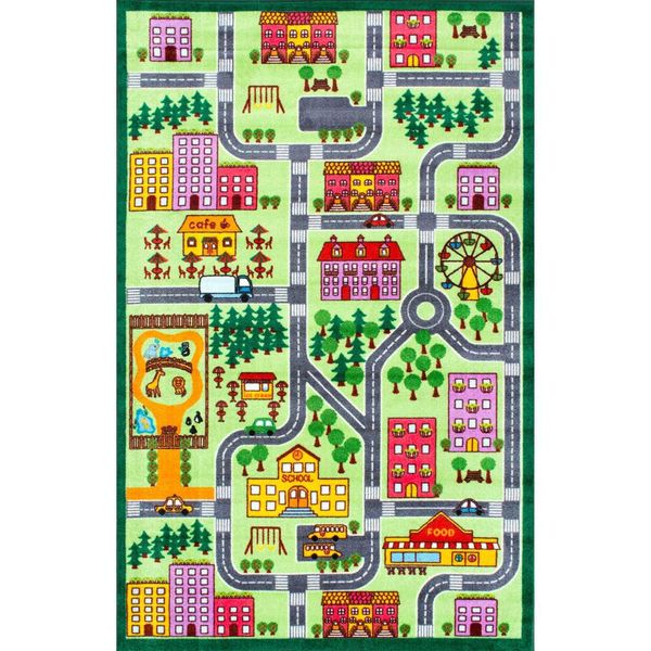 City Neighborhood Playmat Multi 3 ft. x 5 ft. Area Rug