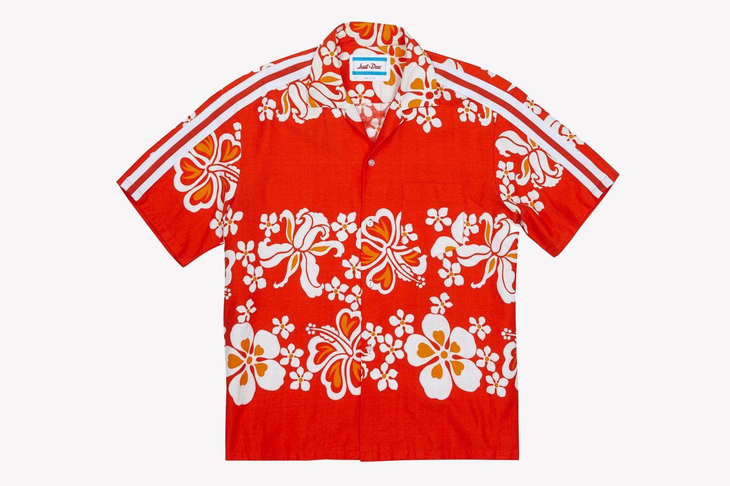 Just Don Floral-Print Cotton-Blend Shirt