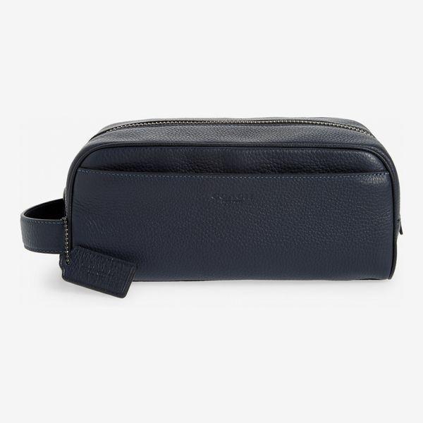 Coach Pebbled-Leather Dopp Kit