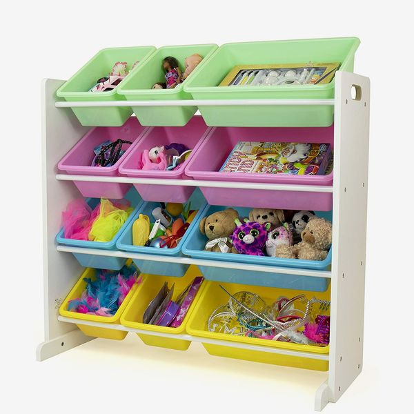 Humble Crew, White/Pastel Kids' Toy Storage Organizer