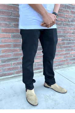 Dapper Boi Slim-Straight, Premium Black Jeans