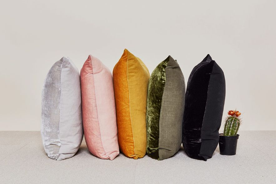 Reversible Velvet + Linen Pillow