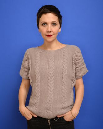 Actress Maggie Gyllenhaal poses for a portrait during the 2014 Sundance Film Festival at the Getty Images Portrait Studio at the Village At The Lift Presented By McDonald's McCafe on January 18, 2014 in Park City, Utah.