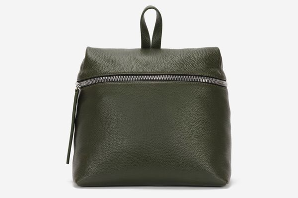 KARA Nori Pebble Leather Backpack