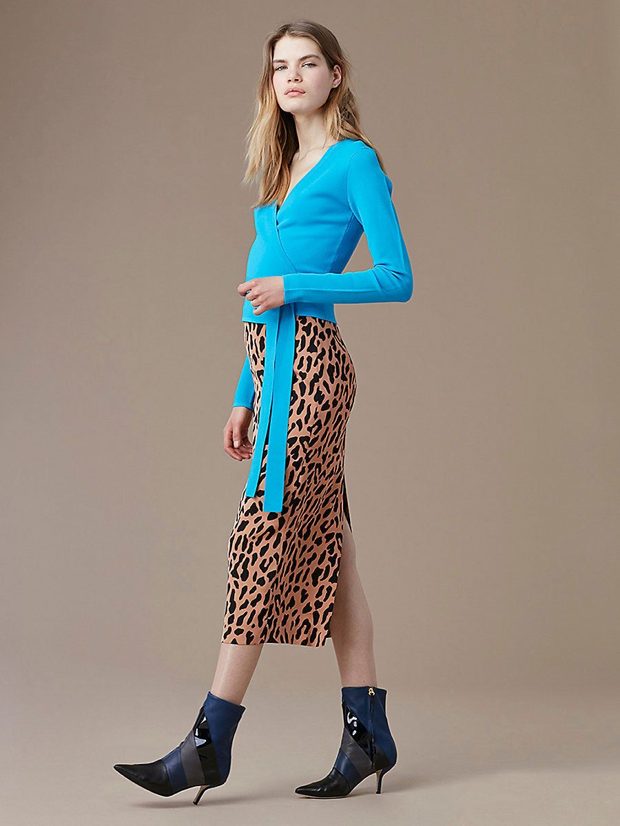 DVF Printed Pencil Skirt