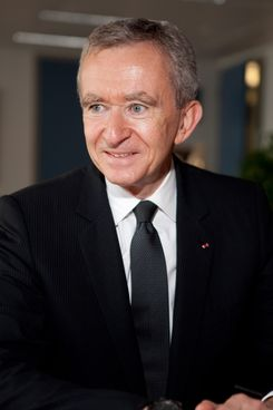 Bernard Arnault, President of Mo?t Hennessy - Louis Vuitton (LVMH) at the European Commission headquarters in Brussels, Wednesday, June 10, 2009.
