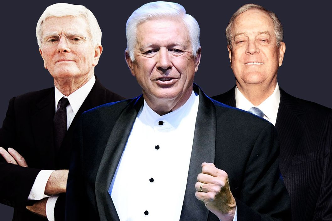 Bob Perry, Foster Friess, and David Koch