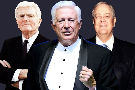 Bob Perry, Foster Friess and David Koch.