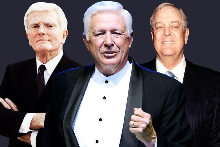 Bob Perry, Foster Friess and David Koch.