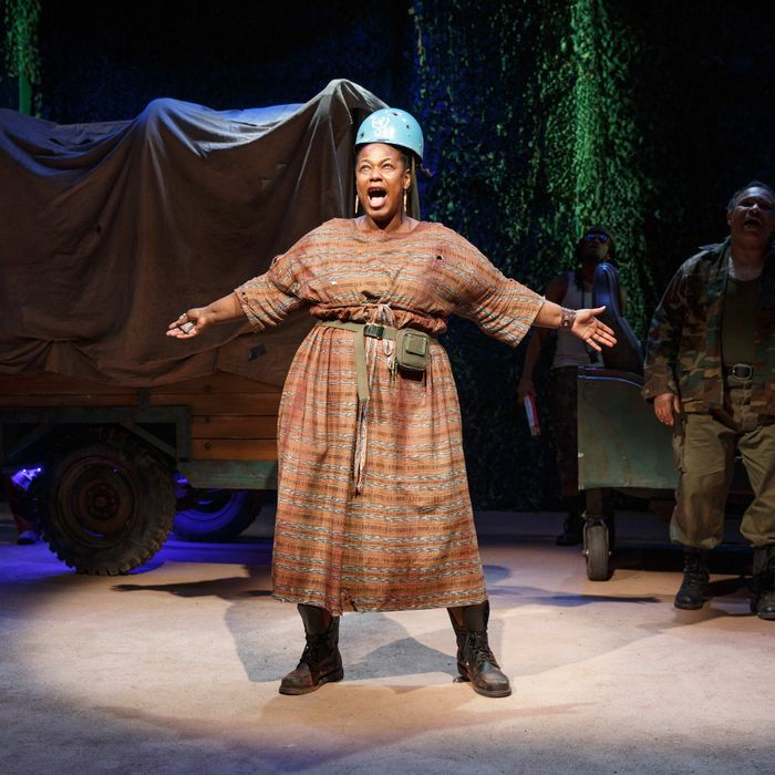 Kecia Lewis as Mother Courage.