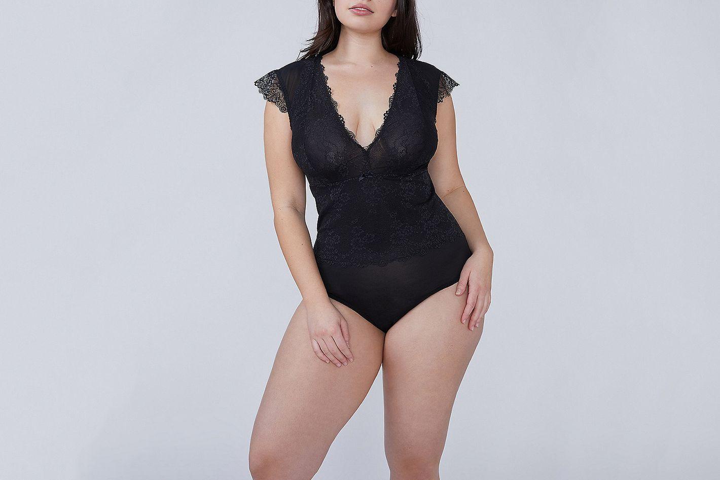 Lace Cap-Sleeve Bodysuit
